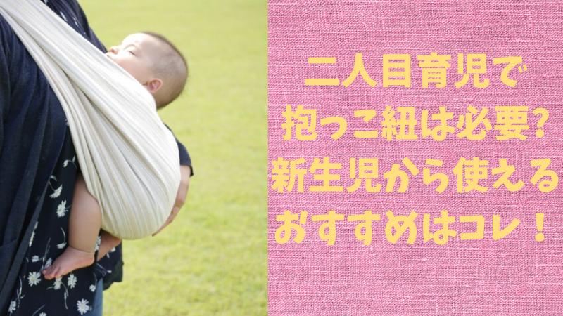 二人目育児で抱っこ紐は必要?新生児から使えるおすすめはコレ!のアイキャッチ